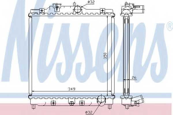 Радиатор охлаждения двигателя NISSENS 63312 - изображение