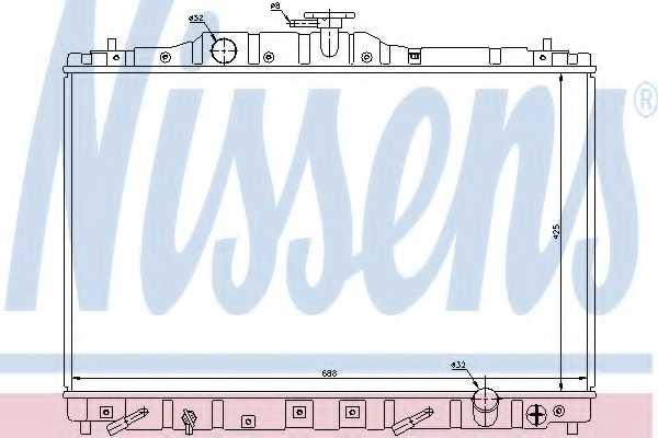 Радиатор охлаждения двигателя NISSENS 63313 - изображение