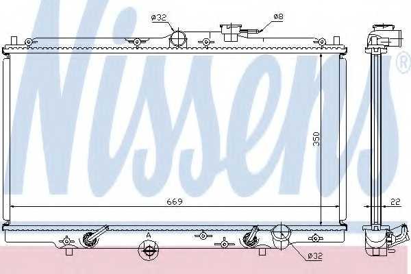 Радиатор охлаждения двигателя NISSENS 633141 - изображение