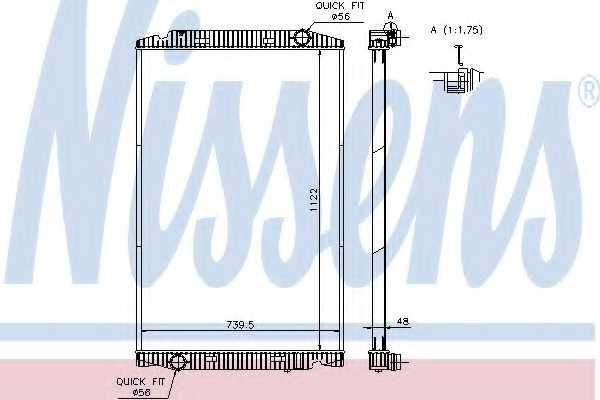 Радиатор охлаждения двигателя NISSENS 63329A - изображение