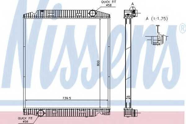 Радиатор охлаждения двигателя NISSENS 63330A - изображение