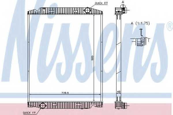 Радиатор охлаждения двигателя NISSENS 63331A - изображение