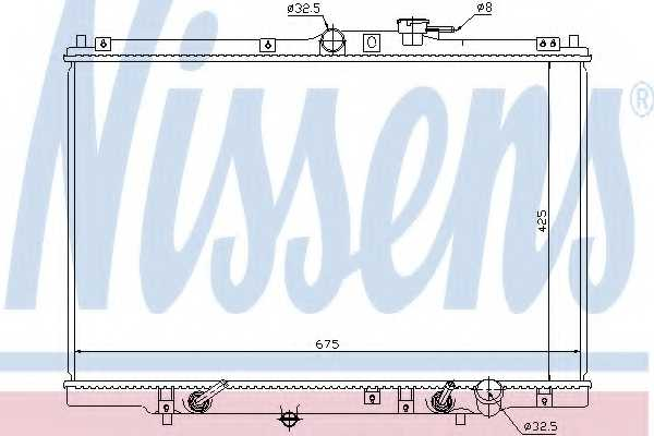 Радиатор охлаждения двигателя NISSENS 63346 - изображение