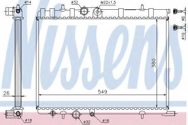 Радиатор охлаждения двигателя NISSENS 63502 - изображение