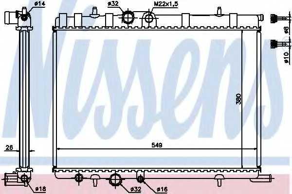 Радиатор охлаждения двигателя NISSENS 63502A - изображение