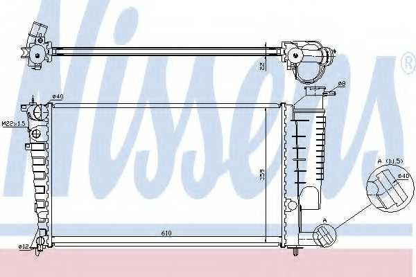 Радиатор охлаждения двигателя NISSENS 635181 - изображение