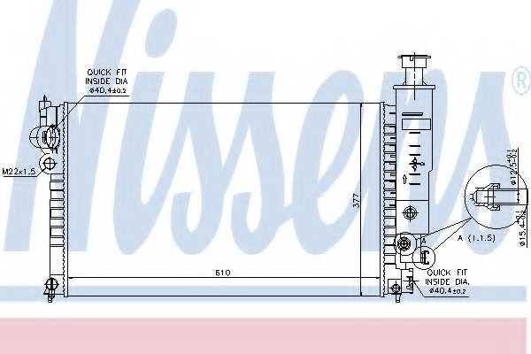 Радиатор охлаждения двигателя NISSENS 63528 - изображение
