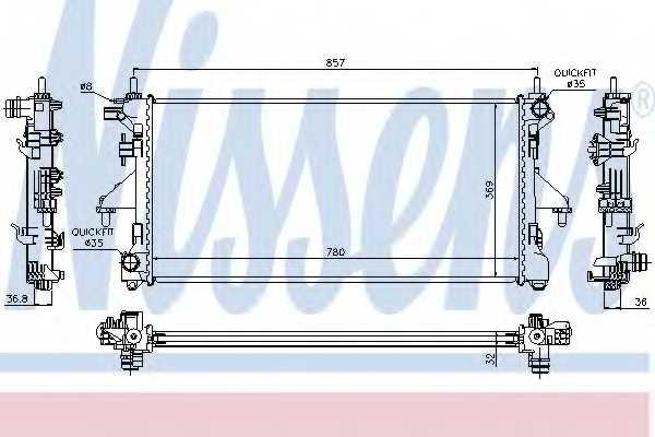 Радиатор охлаждения двигателя NISSENS 63556 - изображение