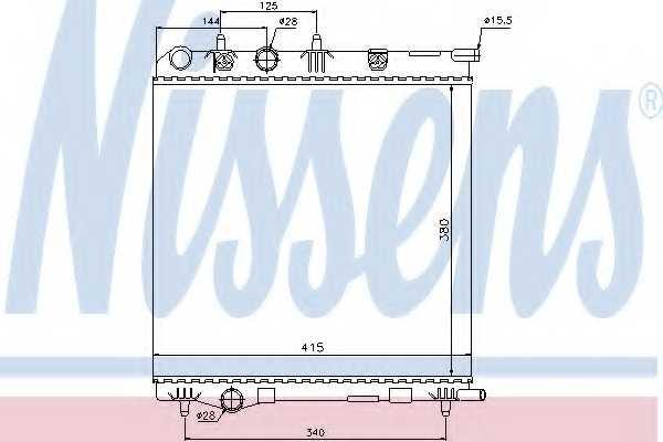 Радиатор охлаждения двигателя NISSENS 636002 - изображение