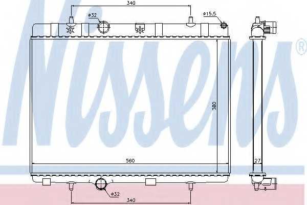 Радиатор охлаждения двигателя NISSENS 636007 - изображение