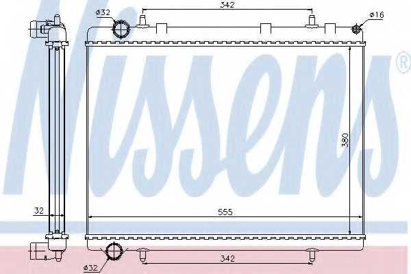 Радиатор охлаждения двигателя NISSENS 63601 - изображение