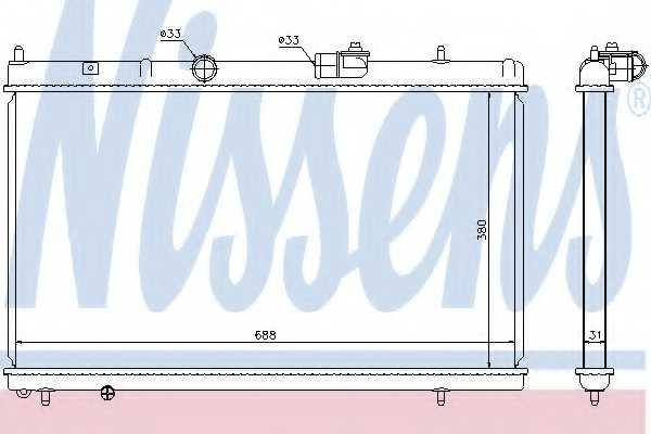 Радиатор охлаждения двигателя NISSENS 636013 - изображение