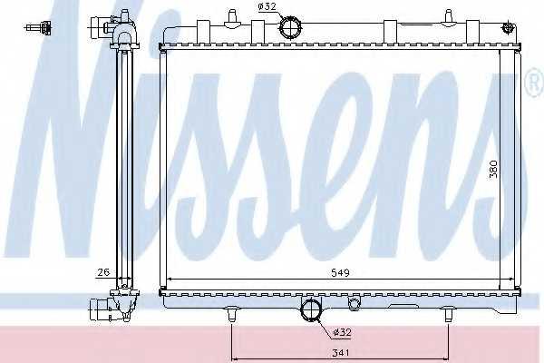 Радиатор охлаждения двигателя NISSENS 63606A - изображение