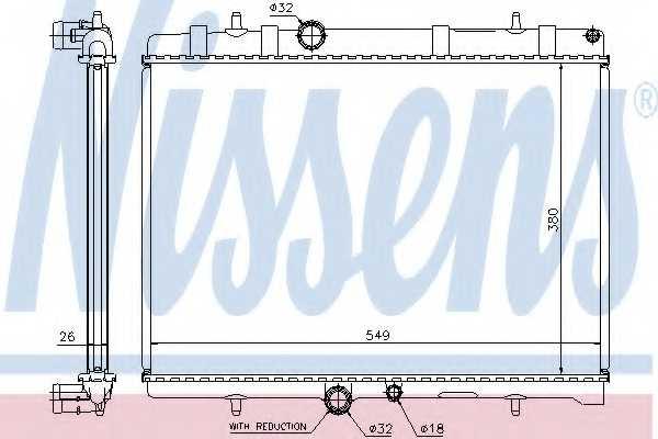 Радиатор охлаждения двигателя NISSENS 63607A - изображение