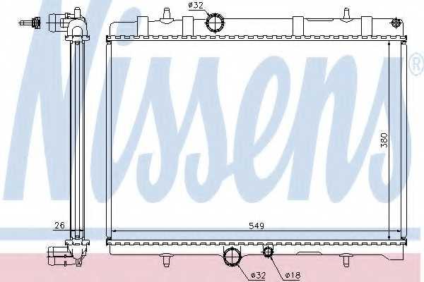 Радиатор охлаждения двигателя NISSENS 63689A - изображение