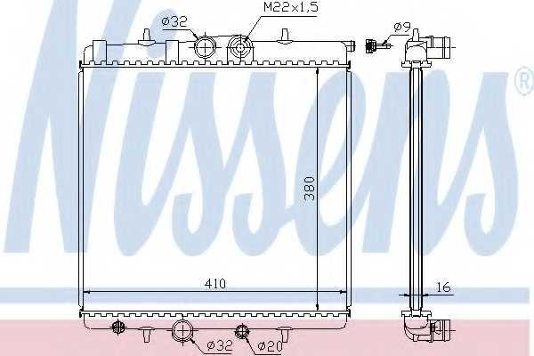 Радиатор охлаждения двигателя NISSENS 63691 - изображение