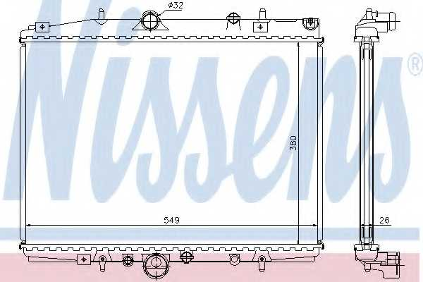 Радиатор охлаждения двигателя NISSENS 63704A - изображение