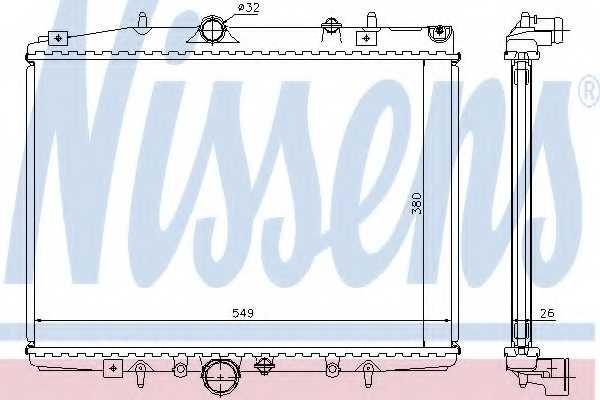 Радиатор охлаждения двигателя NISSENS 63705A - изображение