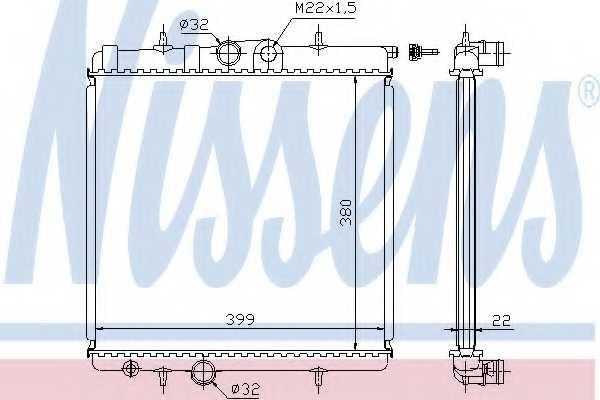 Радиатор охлаждения двигателя NISSENS 63708A - изображение