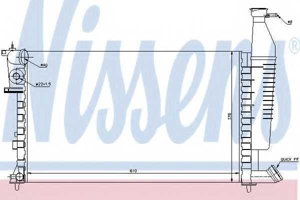 Радиатор охлаждения двигателя NISSENS 63716 - изображение