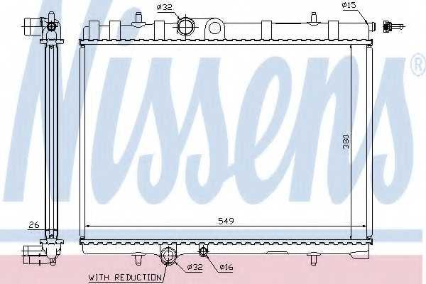 Радиатор охлаждения двигателя NISSENS 63744A - изображение