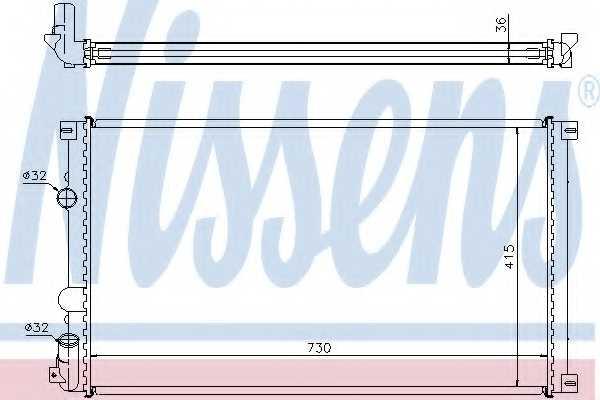 Радиатор охлаждения двигателя NISSENS 63761 - изображение