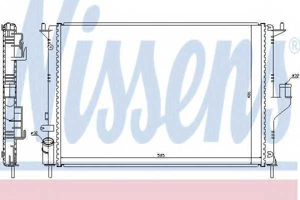 Радиатор охлаждения двигателя NISSENS 637612 - изображение