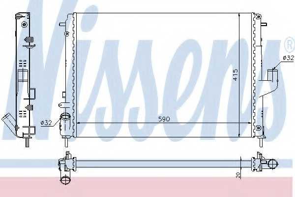 Радиатор охлаждения двигателя NISSENS 637613 - изображение