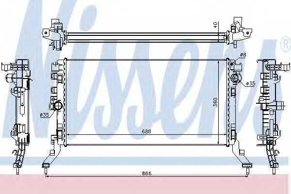 Радиатор охлаждения двигателя NISSENS 637619 - изображение