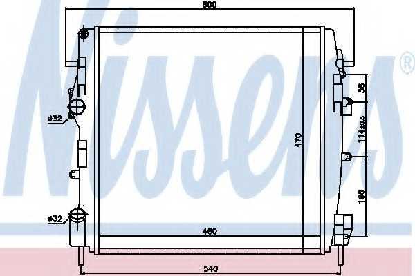 Радиатор охлаждения двигателя NISSENS 63762 - изображение
