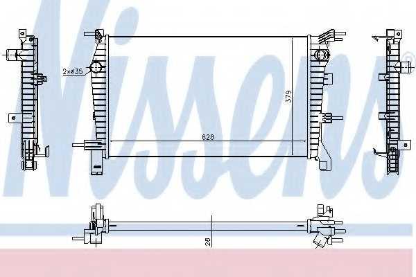 Радиатор охлаждения двигателя NISSENS 637632 - изображение