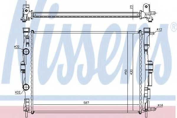 Радиатор охлаждения двигателя NISSENS 63764 - изображение