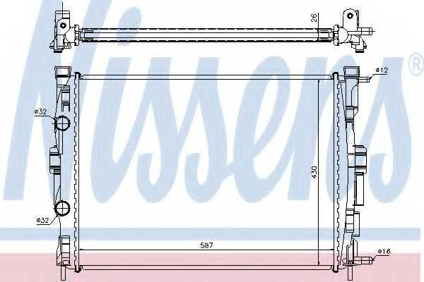 Радиатор охлаждения двигателя NISSENS 63765A - изображение