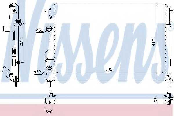 Радиатор охлаждения двигателя NISSENS 63766 - изображение