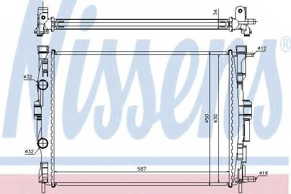 Радиатор охлаждения двигателя NISSENS 63769 - изображение