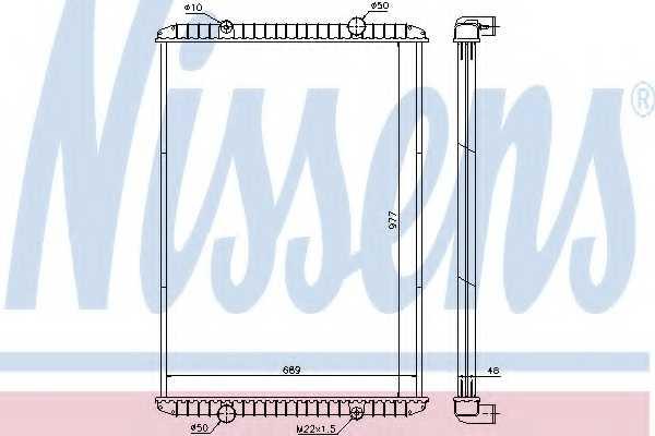 Радиатор охлаждения двигателя NISSENS 637750 - изображение