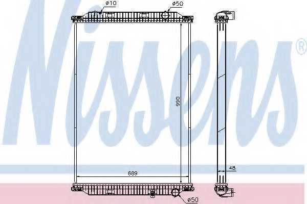 Радиатор охлаждения двигателя NISSENS 637850 - изображение