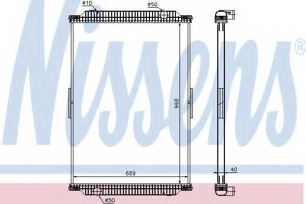 Радиатор охлаждения двигателя NISSENS 637870 - изображение