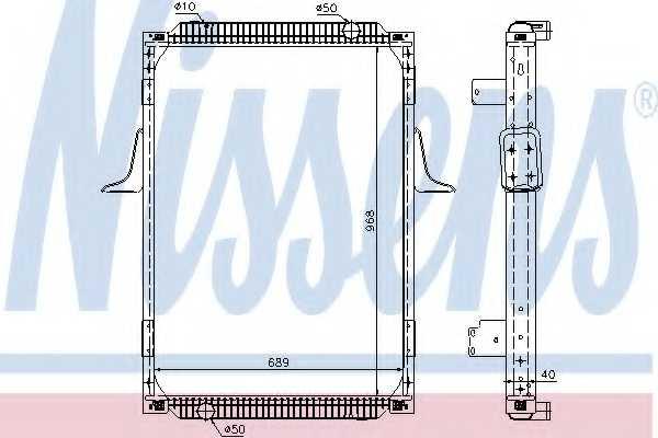 Радиатор охлаждения двигателя NISSENS 63787A - изображение