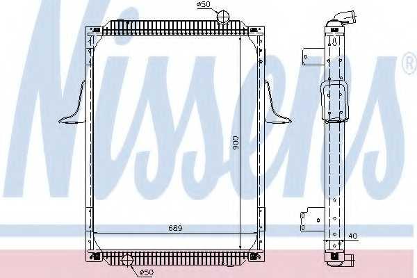 Радиатор охлаждения двигателя NISSENS 63788A - изображение