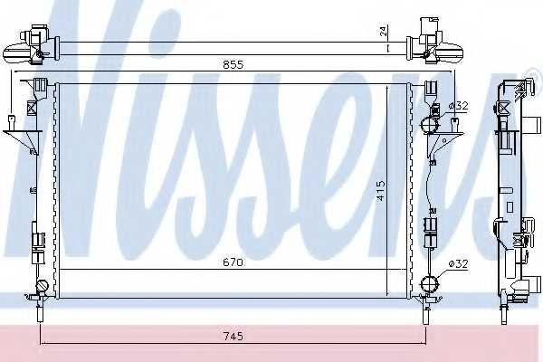 Радиатор охлаждения двигателя NISSENS 63813 - изображение