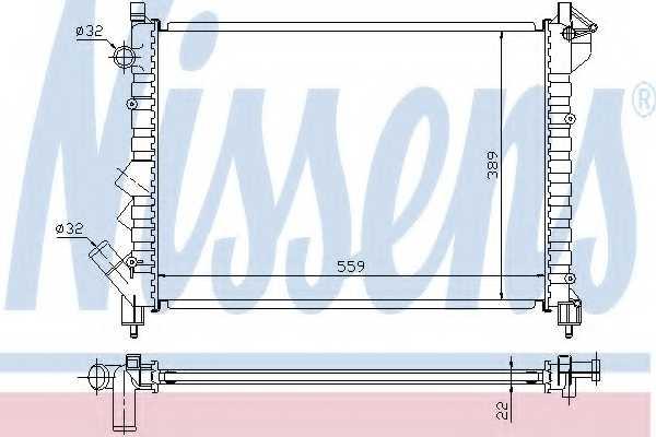 Радиатор охлаждения двигателя NISSENS 63832 - изображение