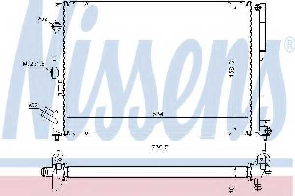 Радиатор охлаждения двигателя NISSENS 63851A - изображение