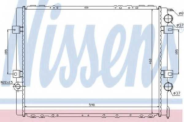 Радиатор охлаждения двигателя NISSENS 63859 - изображение