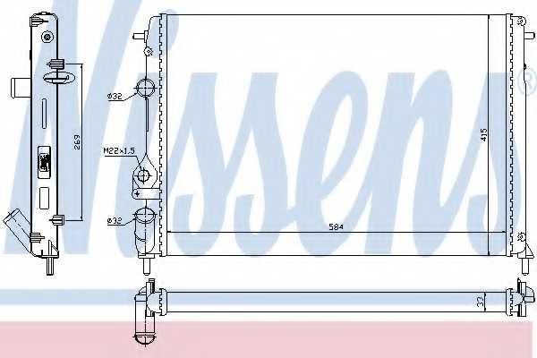 Радиатор охлаждения двигателя NISSENS 63877 - изображение