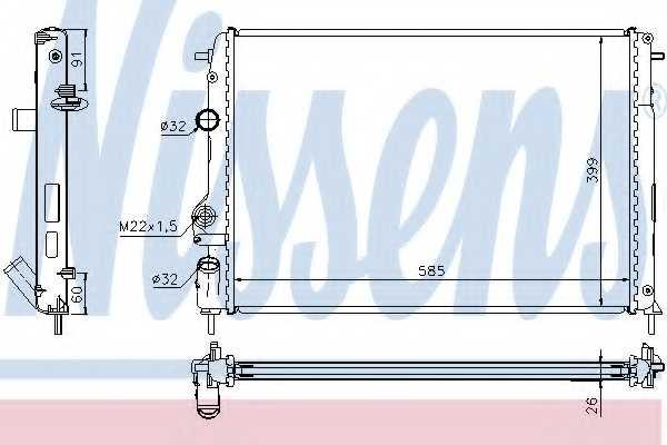 Радиатор охлаждения двигателя NISSENS 63896A - изображение