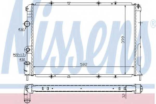 Радиатор охлаждения двигателя NISSENS 63938A - изображение