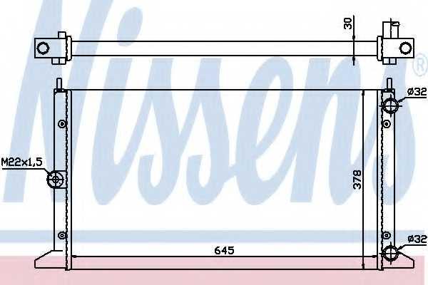 Радиатор охлаждения двигателя NISSENS 63991 - изображение