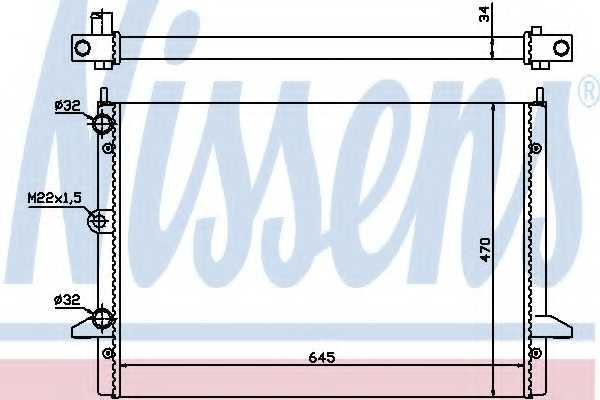 Радиатор охлаждения двигателя NISSENS 63992 - изображение