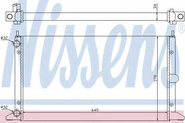 Радиатор охлаждения двигателя NISSENS 63993 - изображение